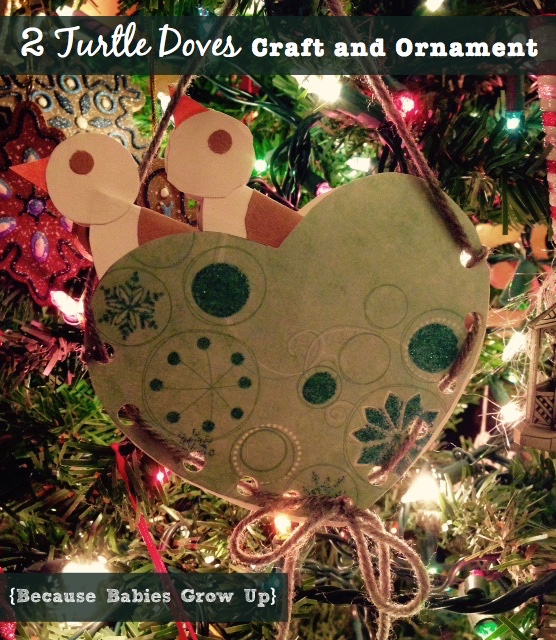 Two turtle doves craft and ornament