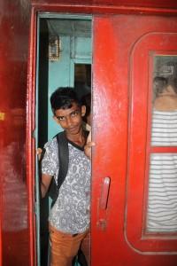 Boy in the train