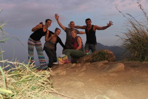 Group shot at Little Adam's peak