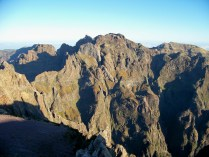 The view from Pico do Arieiro, with Pico Ruivo to the right and Pico das Torres in the centre of the picture