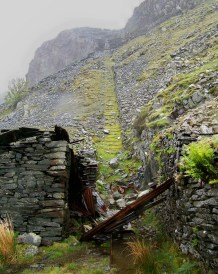 The foot of the Yew Crag Incline, above Honister Pass