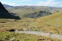 Descending Gatescarth Pass into Mardale