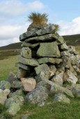 One of the famous tufted cairns of Beinn á Ghlo