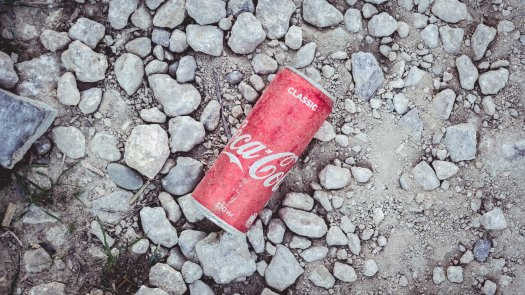 Photo of a discarded Coca-Cola can on the ground, by Stanislav Kondratiev on Unsplash