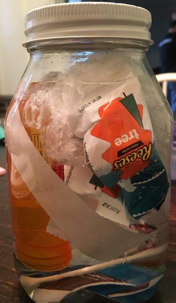 Our pollution jar.