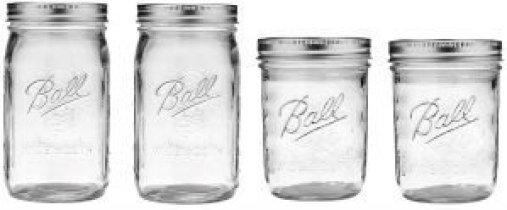 4 Ball jars