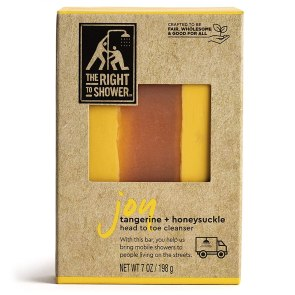 The Right To Shower Shampoo bar packaging