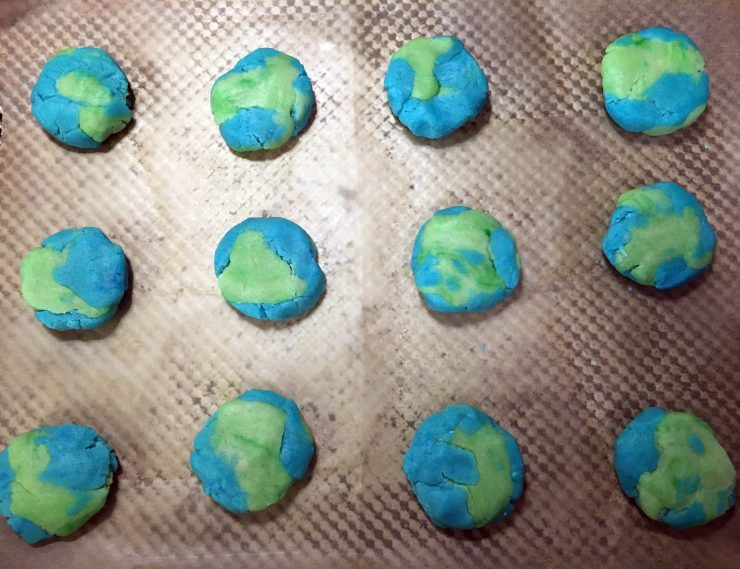 Earth Cookies on sheet pan