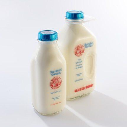 Homestead Creamery returnable milk bottles