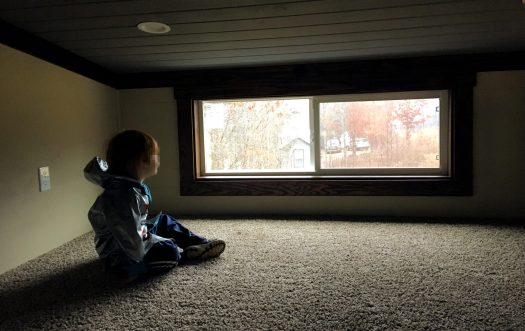 My son in the loft of the Sea Breeze