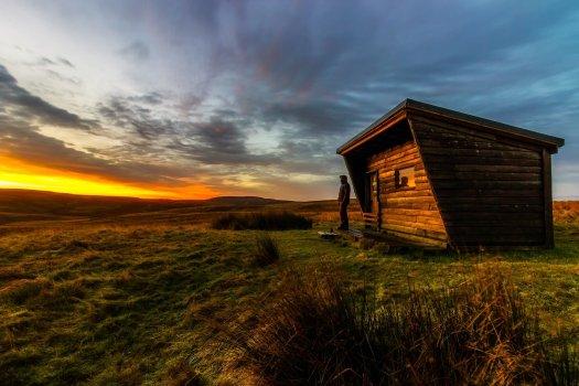 Tiny house on a beautiful landscape