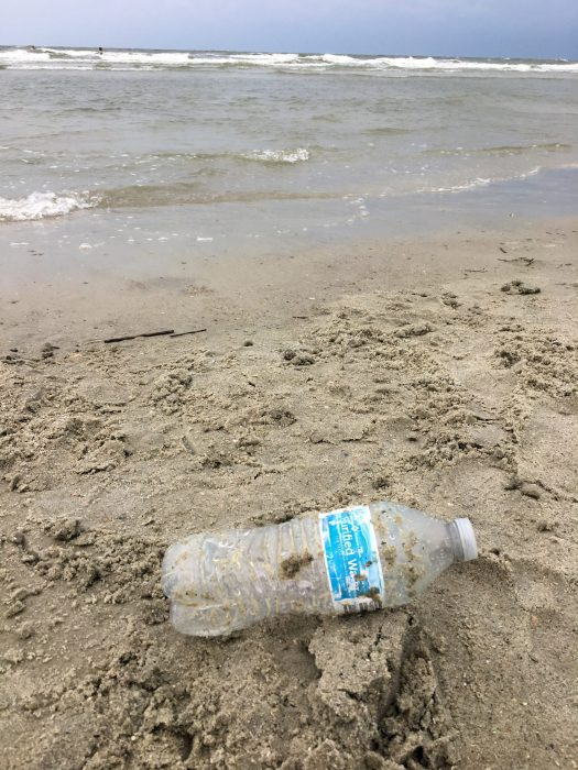 Walmart (Sam's Club) water bottle on the beach in South Carolina.