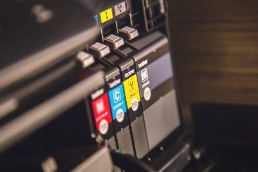 Brother brand printer ink cartridges.
