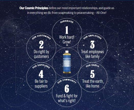 Dr. Bronner's Cosmic Principles chart