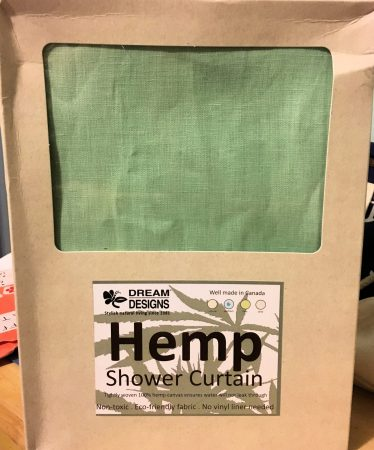 Hemp shower curtain in package