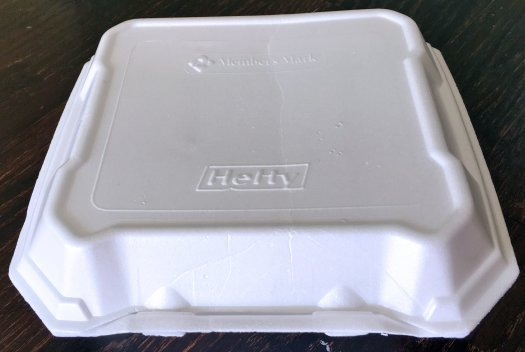 Hefty polystyrene container