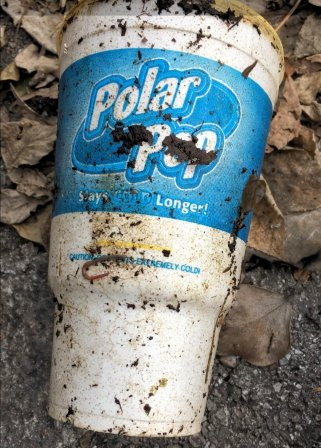 Polar Pop cup on the ground