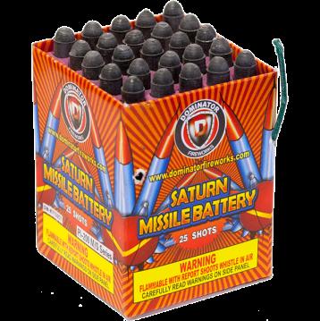 Saturn Missile Battery fireworks