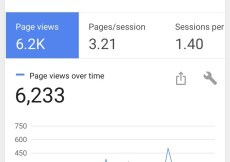 6233 page views reached in August