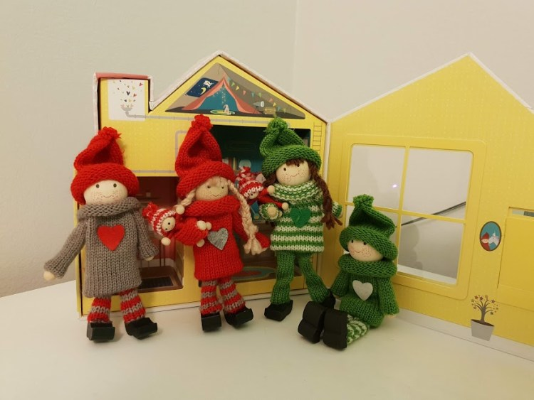 The Kindness Elves with their house and babies