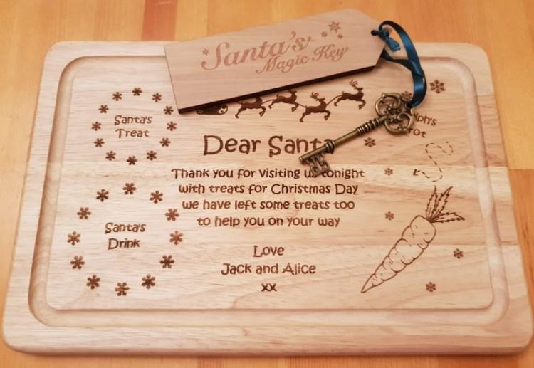 Personalised Santa treat tray