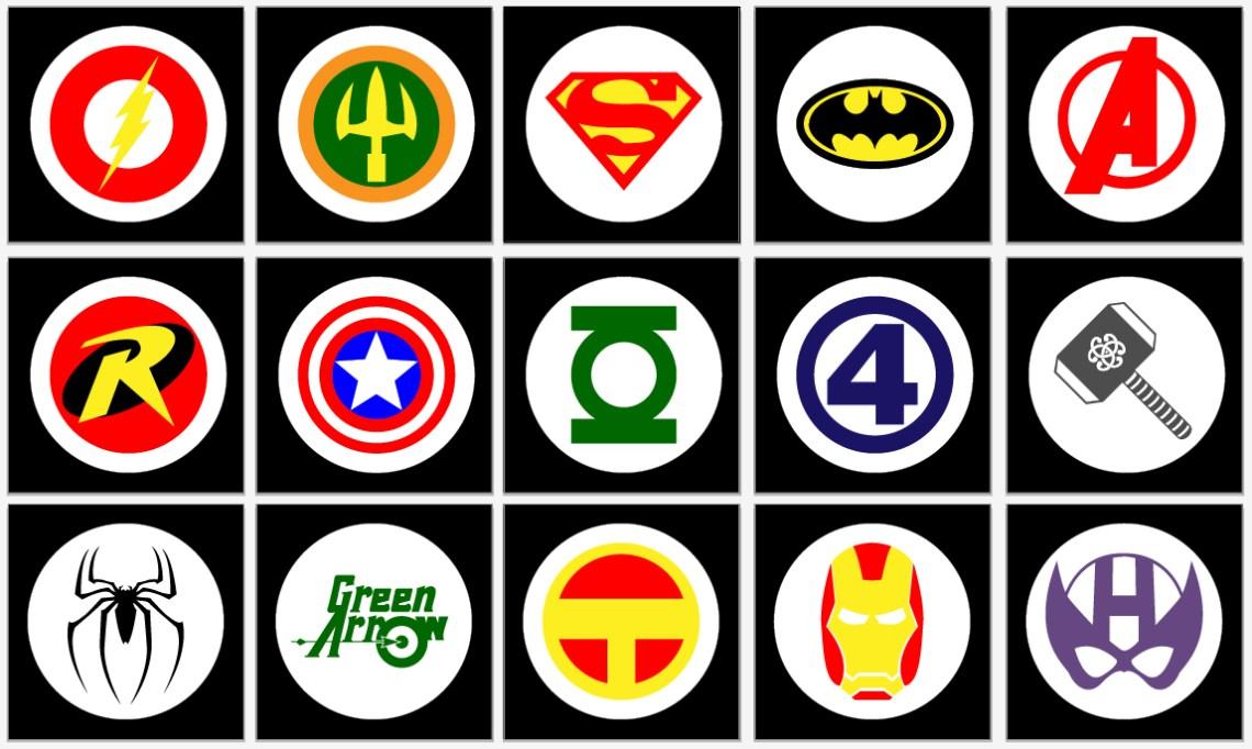 Super Hero Logos   BeccaBug.com