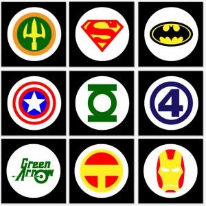 Super Hero Logos | BeccaBug.com