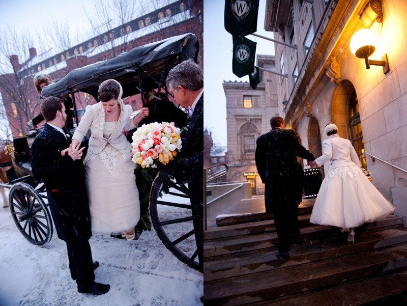 winter wedding with snow 2
