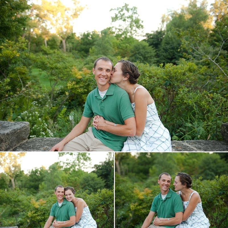 madison wi engagement photos at dusk