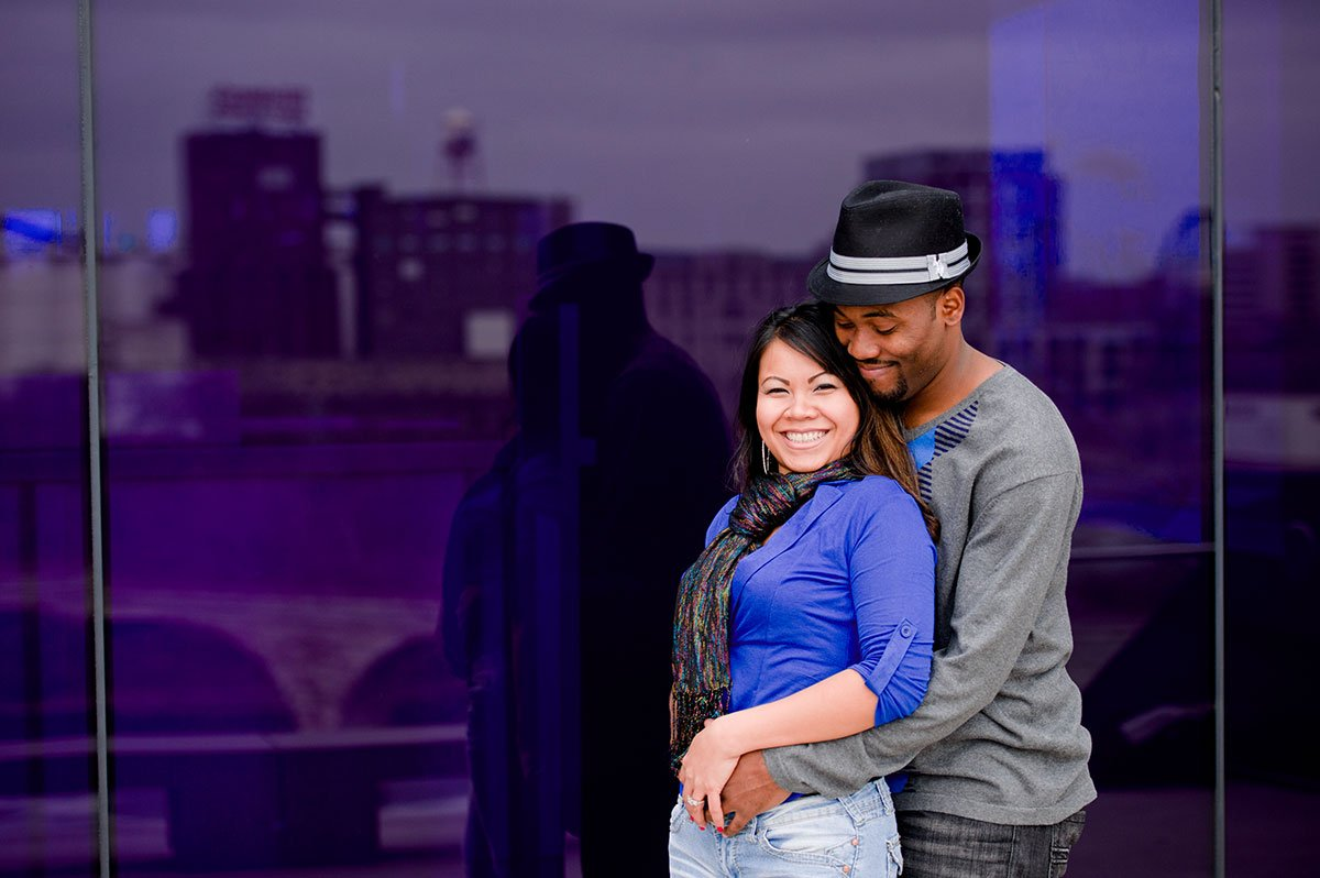 Guthrie Theater portraits minneapolis with mixed couple