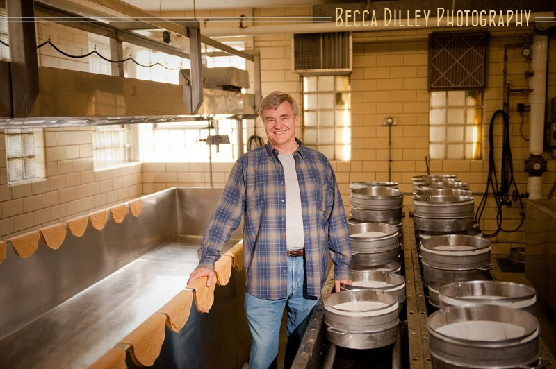 Sid Cook Wisconsin artisan cheesemakers editorial portraits