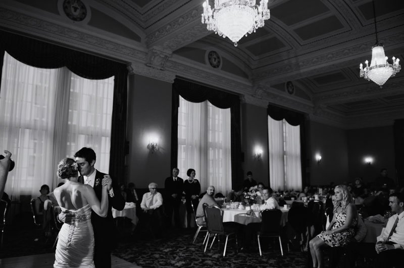 first dance with architecture at University Club and Hotel 340 Wedding in St Paul, MN