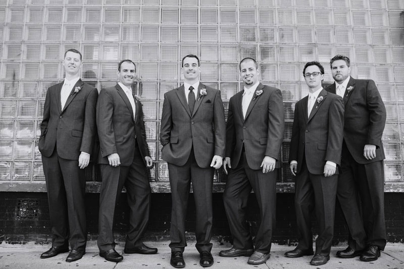 groomsmen in front of loring pasta bar minneapolis