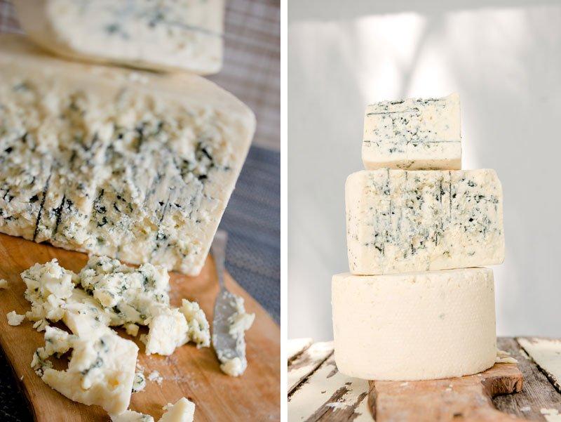 Blue cheese detail photos Minnesota editorial photographer