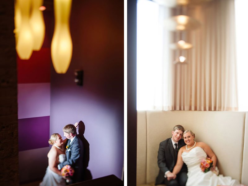 bride and groom in interior of five event center minneapolis wedding