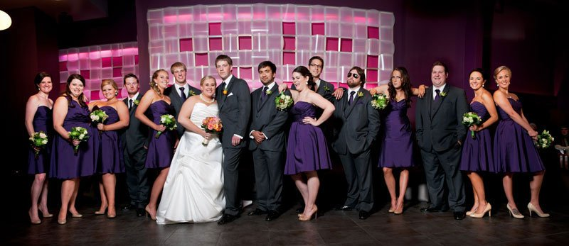 large wedding party panorama five event center minneapolis wedding