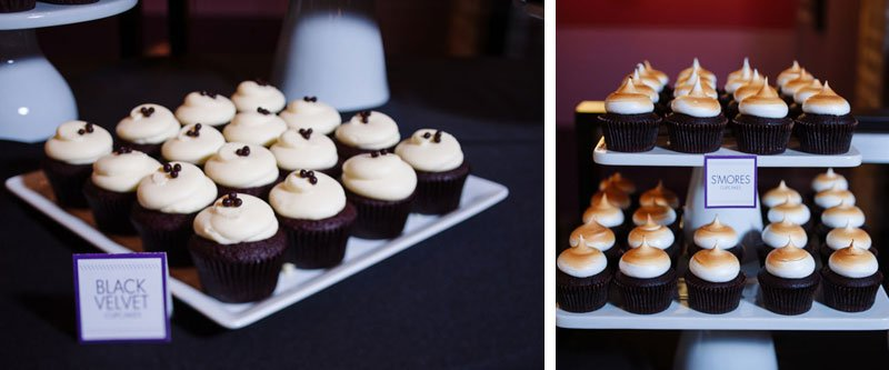 cupcake table from Cocoa & Fig five event center minneapolis wedding