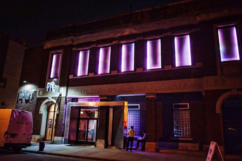 exterior at night five event center minneapolis wedding