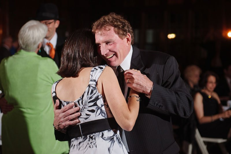 Bride dances with father at Theadore Wirth Park Chalet Minneapolis
