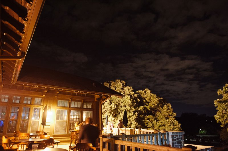 Theadore Wirth Park Chalet at night