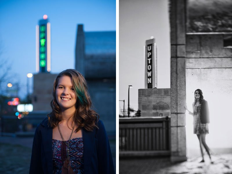 urban minneapolis senior photo uptown theater