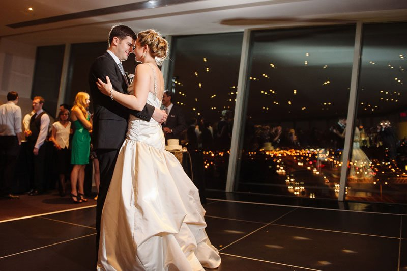 first dance at Walker Art Center wedding Minneapolis MN