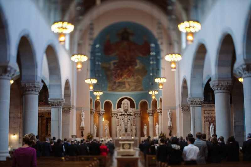 interior of st thomas church wedding st paul mn