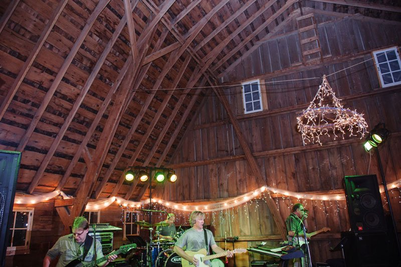 rustic WI barn wedding reception
