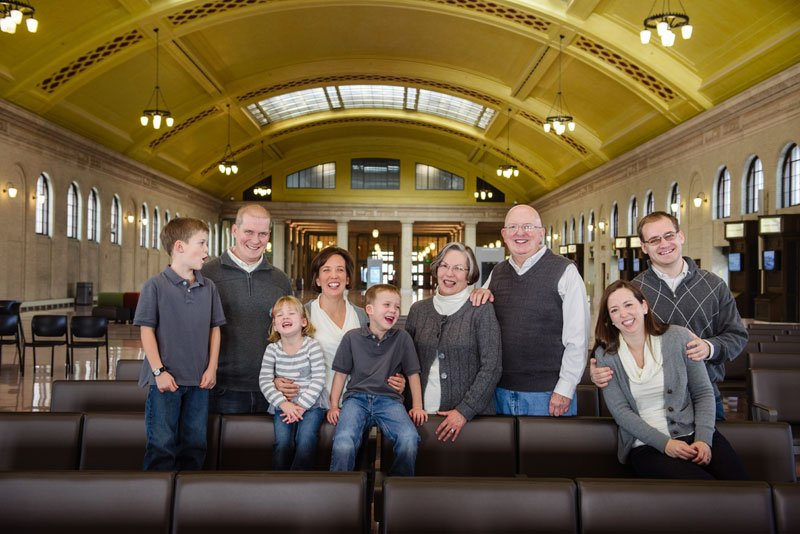 Family Photos in St Paul Union Depot MN