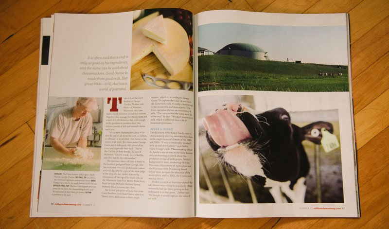 Crave Brothers Cheese photos featured in Culture Magazine