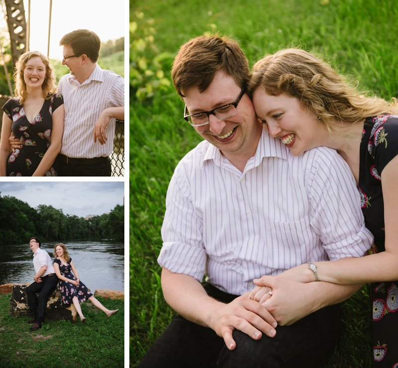 engagement photos on nicollet island