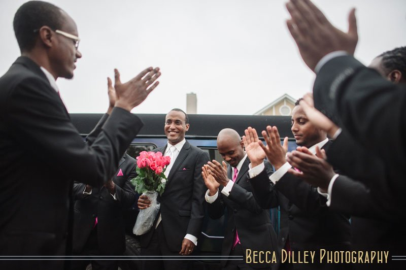 Ethiopian wedding groom arrives
