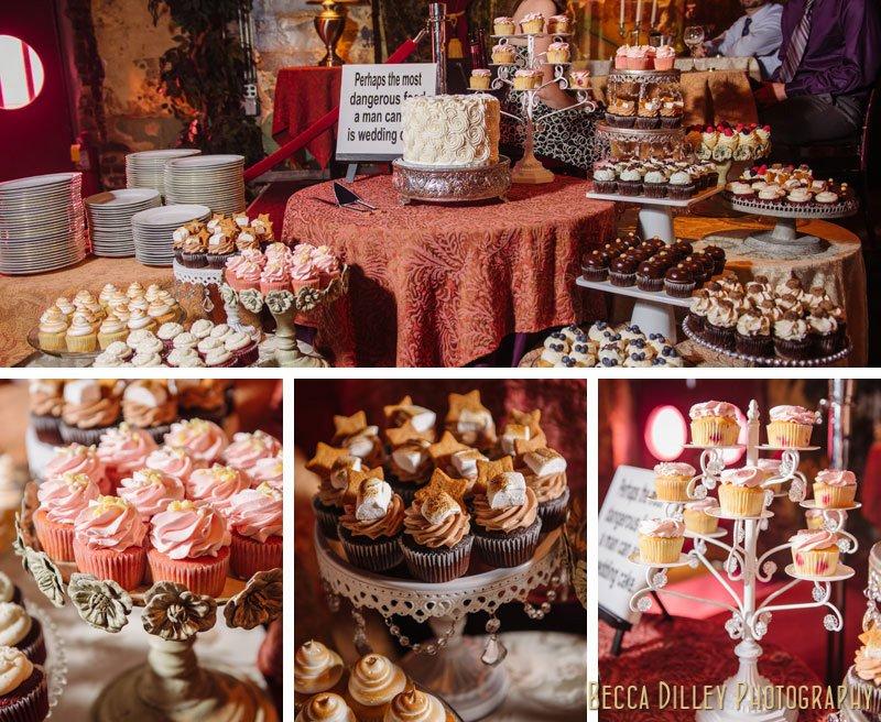 cupcake table varsity theater minneapolis wedding