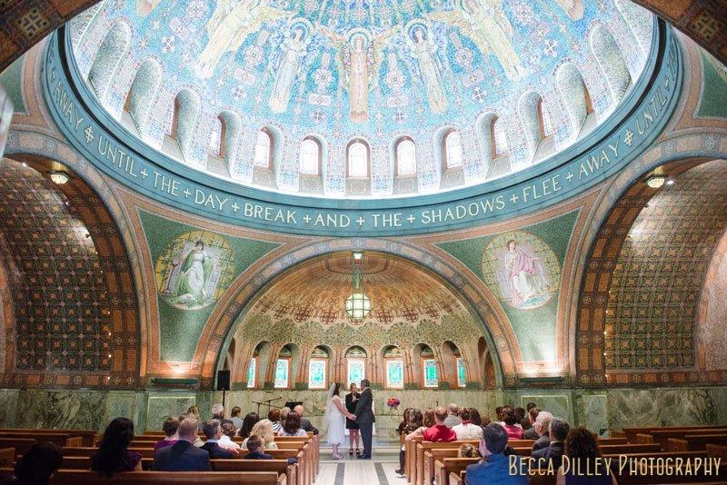 interior of lakewood chapel minneapolis wedding ceremony